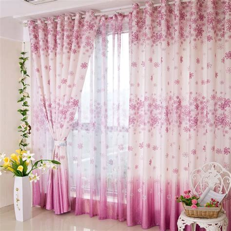 purple and pink curtains pink purple living room or bedroom flower pattern curtains
