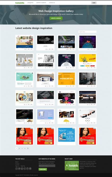 design inspiration gallery ideas inspirations for web designers the hot skills is a