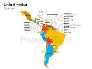 south america speaking countries map america map editable ppt