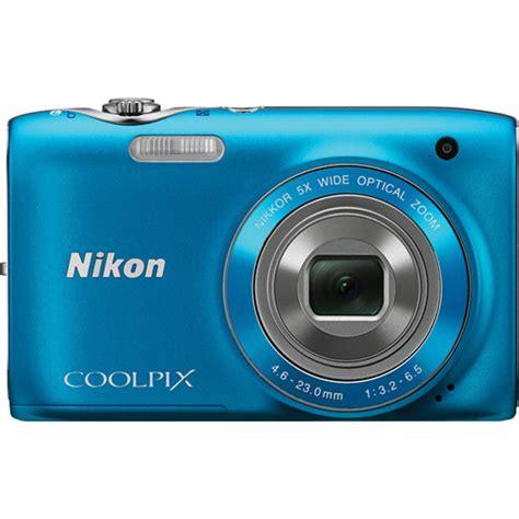 nikon coolpix 3100 digital nikon coolpix s3100 digital blue 26267 b h photo
