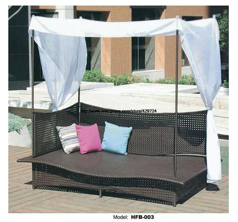 Sofa Bed Rotan rechthoek rotan sofa vakantie outdoor rotan sofa bed