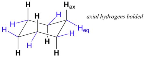 Cyclohexene Chair by 4 6 Axial And Equatiorial Bonds In Cyclohexane Chemistry