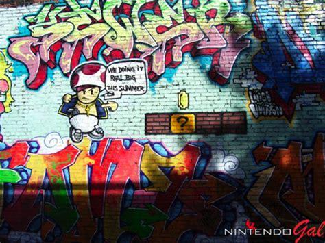 super mario graffiti mario bros spray paint