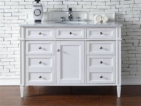bathroom vanity no top contemporary 48 inch single bathroom vanity white finish