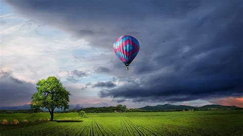 wallpaper hot air balloon landscape  photography