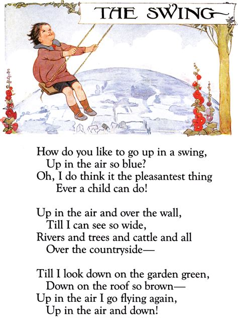 the swing poem by robert louis stevenson sheryl haft children s author educator imaginator blog