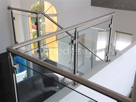 glass banister rails stainless steel railing systems square middle post w