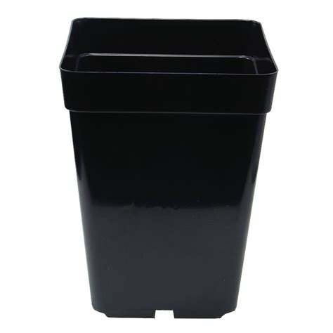 black square plant pots 1 5 litre black square plant pot