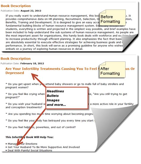 format html book how to format your amazon and kindle book descriptions