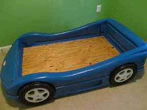 Coupe Car Toddler Bed Tikes Blue Race Car Bed Crib Toddler Bed Size Ebay