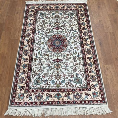 Handmade Silk Rugs - new 3x5 blue traditional handmade silk