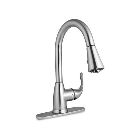 glacier bay pull kitchen faucet glacier bay market single handle pull sprayer kitchen faucet brush nickel ebay