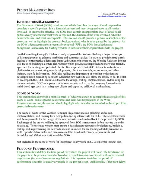 sow template statement of work