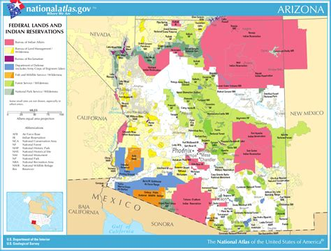 indian reservations usa map map of arizona map federal lands and indian reservations