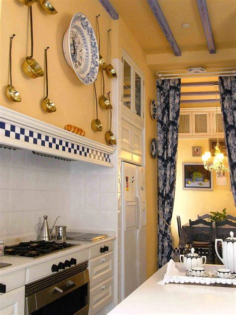 blue and yellow decor french country blue and yellow decor kitchen traditional