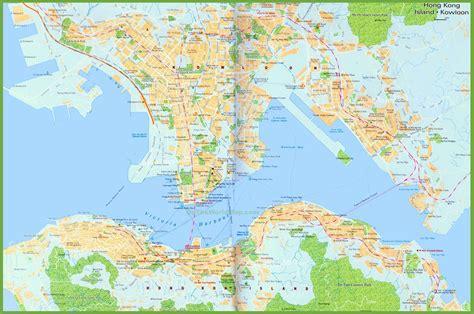map world hong kong large detailed map of hong kong
