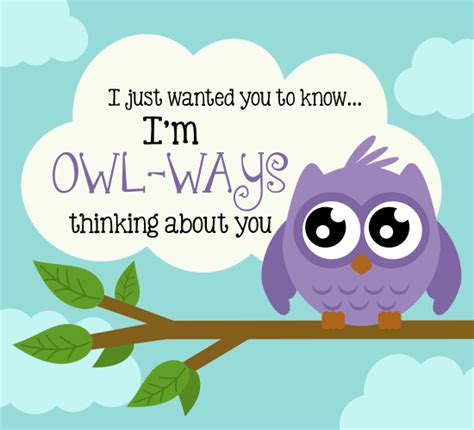 free printable greeting cards thinking of you owl ways thinking of you free thinking of you ecards