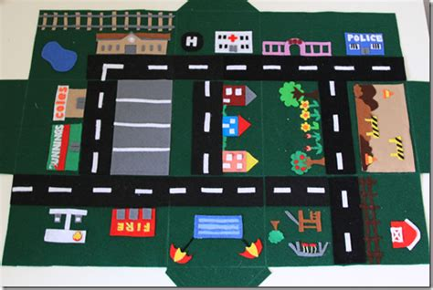 printable road play mat tutorial felt car play mat house cook clean craft