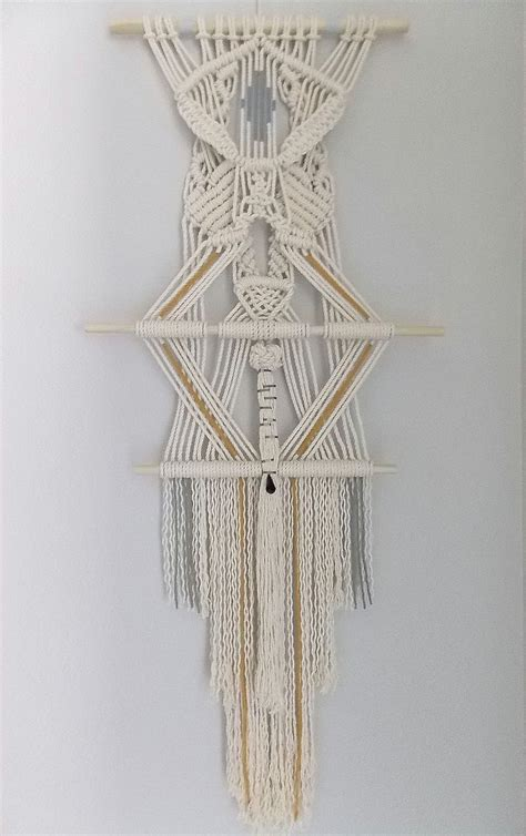 Macrame Rope Patterns - quot the sign quot by himo macram 233 wall hanging himo