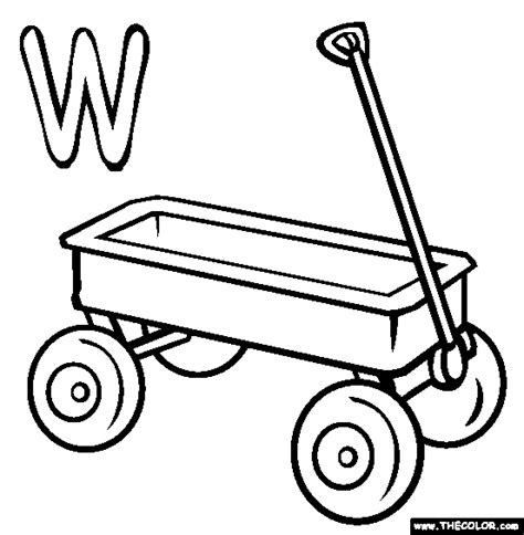 wagon free coloring pages