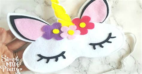 sew felt unicorn sleep mask