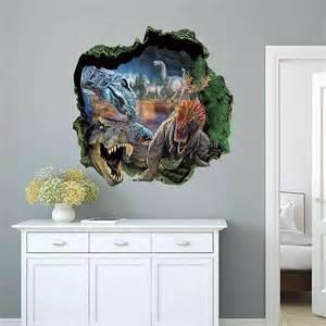 dinosaur jurassic park wall stickers home wallpaper beach view art