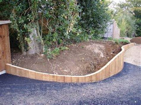 Curved Railway Sleepers by Curved Railway Sleeper Bed Gardens And Outdoor Spaces