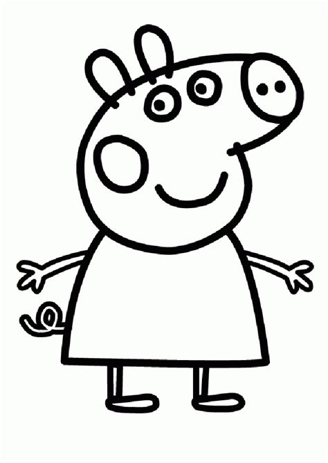 peppa pig template peppa pig coloring pages coloringpagesabc