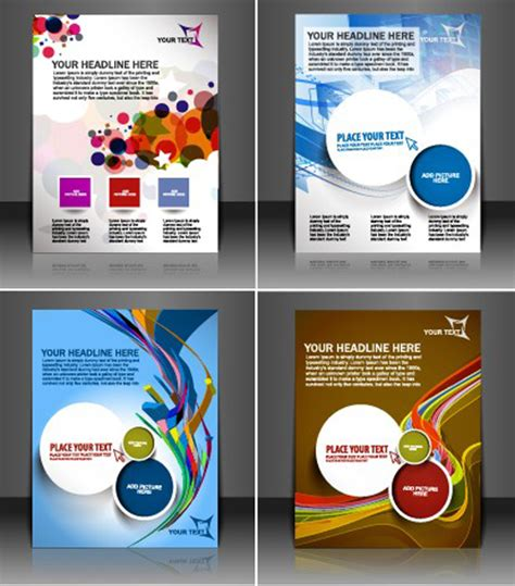 magazine design elements vector set of modern magazine cover design vector 02 vector