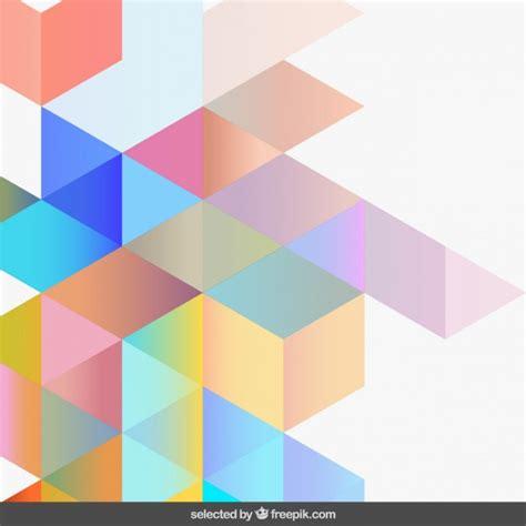gradient light colors geometric background vector