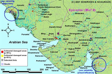 earthquake zone in gujarat earthquake map of gujarat