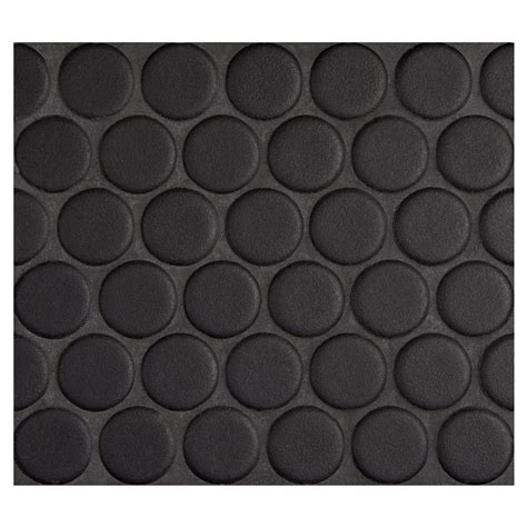Kitchen Collection Locations penny round mosaic midnight black matte complete