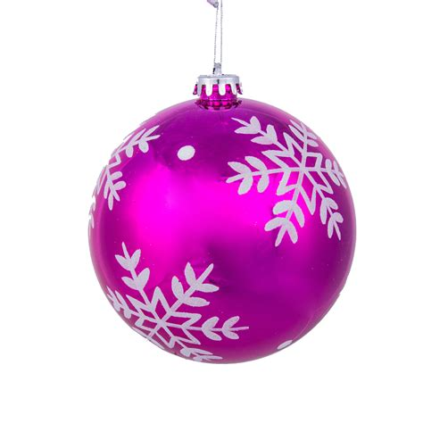 pink ornaments clearance trim a home 174 140mm single decorated bright shatterproof
