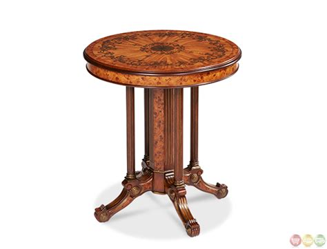Brown Accent Table | discoveries light brown wood round accent table lxng 112