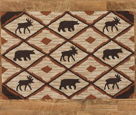 cabin style area rugs measures 36 quot wide x 24 quot