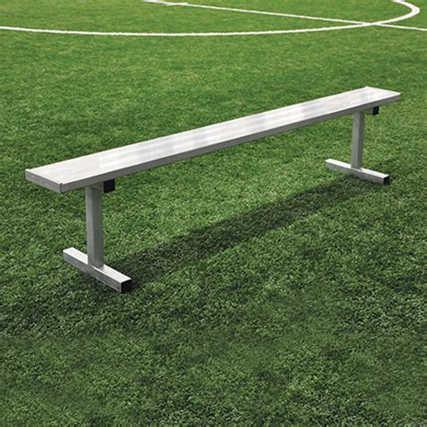 players bench 21 player bench w o seat back surface mount natural