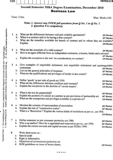 Vtu Mba Question Papers 2nd Sem by Visvesvaraya Technological Management 2010