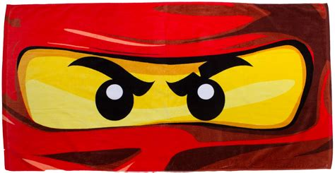 lego ninjago eyes beach bath towel kids character great