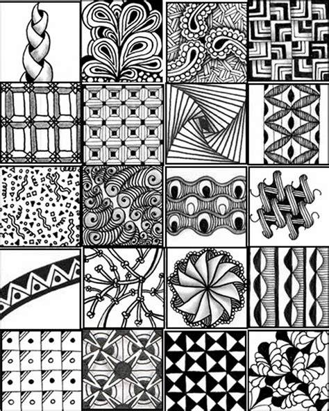 pattern drawing pdf 9 best images of printable flower patterns zentangle