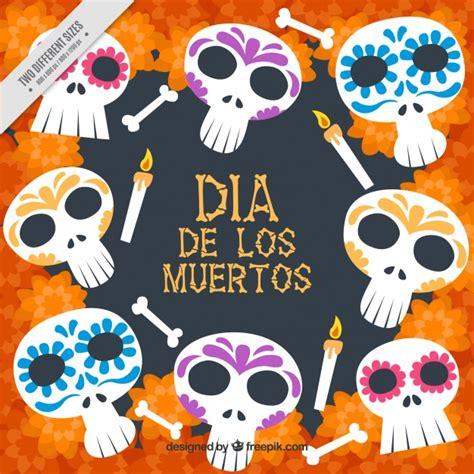 imagenes de fondo dia de muertos masculino fondo del d 237 a de los muertos de calaveras mexicanas y