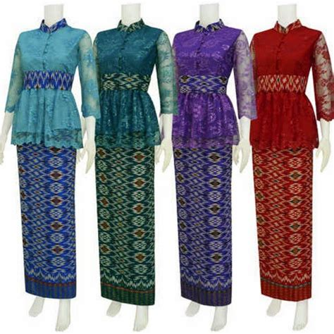 Kebaya Ch 10 10 pin batik mira hijau model baju modern on