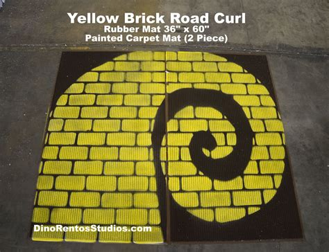 Yellow Brick Road Rug by Yellow Brick Road Rubber Mat 72 Quot X 60 Quot Curl Right Dino