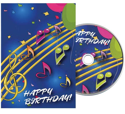 Birthday Wishes Musical Cards Music Notes Birthday Greeting Card With Matching Cd China
