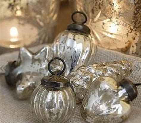 mercury glass ornaments holiday pinterest