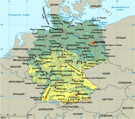germany country map map of germany planetolog