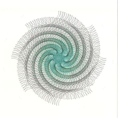 how to use a spiral doodle spiral drawing green spiral swirl drawing green swirl