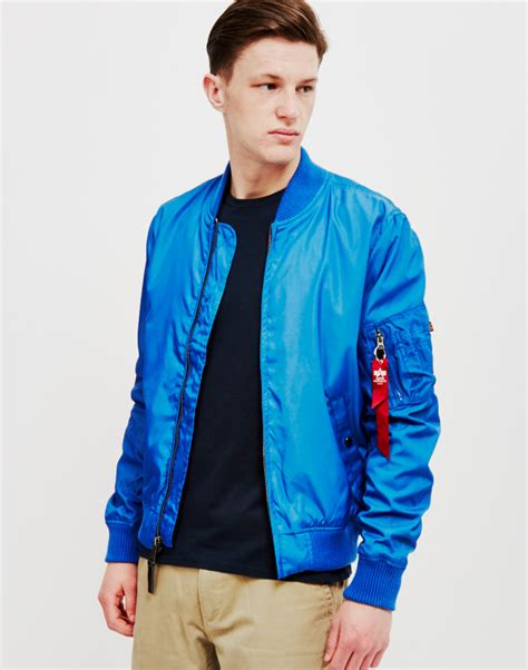 light blue bomber jacket mens alpha industries ma 1 tt bomber jacket pacific blue in
