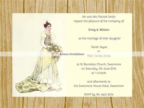 electronic wedding invitation templates diy digital printable a5 vintage wedding invitation