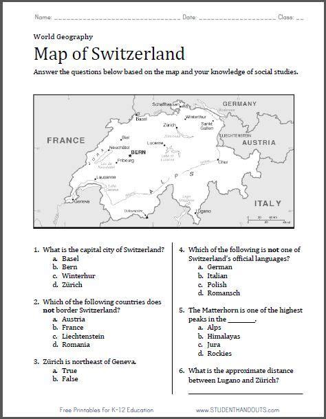 Geography Map Skills Worksheets Pdf