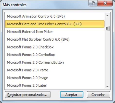 insertar un calendario desplegable en excel 2010 excel total